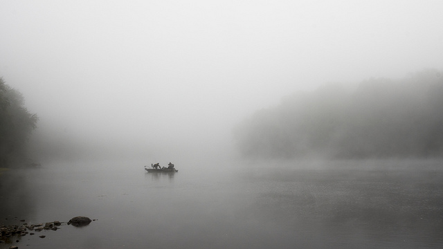 7. Pennsylvania's landscapes can be dramatic with the aid of fog; here the Delware River is barely visible.