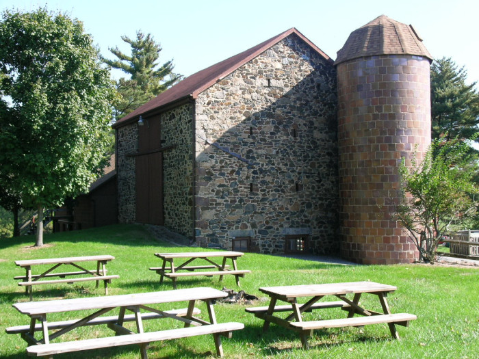 5) This stone barn is located on the grounds of Belmont Manor in Howard County.