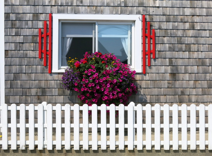 11. A bright, oceanside window, like this one at Boyce's Motel, in Stonington.