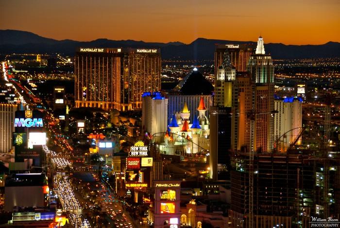 1. An amazing skyline view of the Las Vegas Strip.