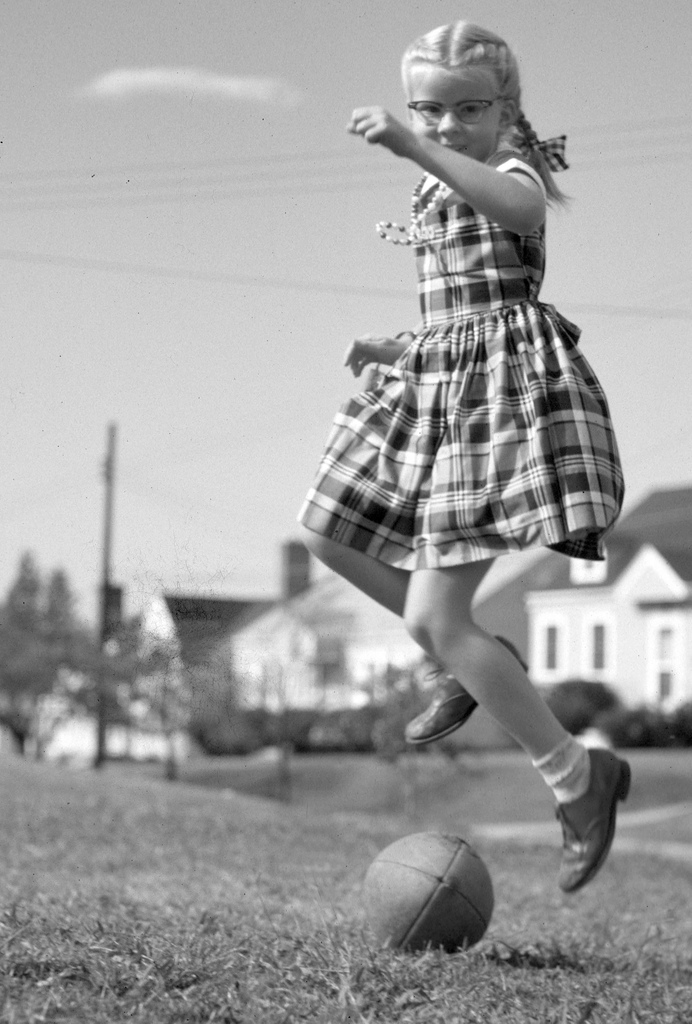 4. How Girls Play Football - 1950
