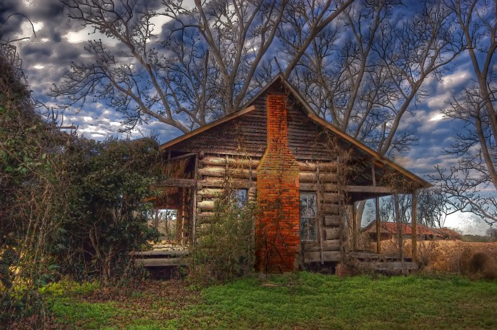 """12. Titled """"Morning,"""" this lovely cabin is located in Dale County. I can only imagine what it was like to live here in earlier times."""