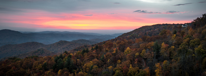 6. The View from the Blue Ridge Mountains, Georgia