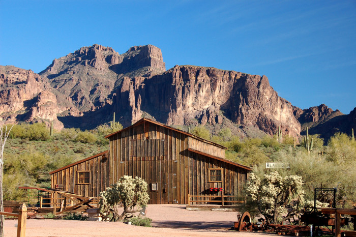 8. A weathered barn standing in front of the Superstition Mountains; there's no better way to be reminded of the beautiful land we live on.