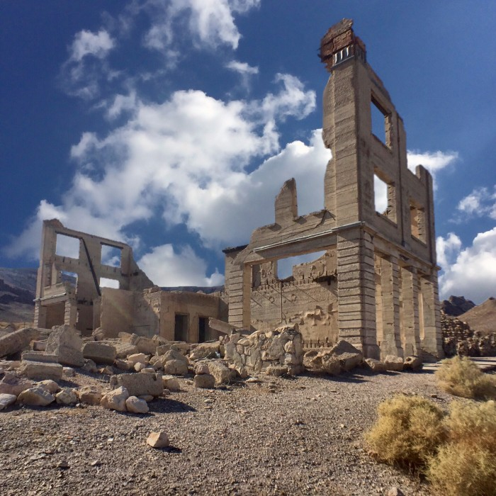 4. This is what remains of the old bank in Rhyolite. Rhyolite is Nevada's most visited ghost town.
