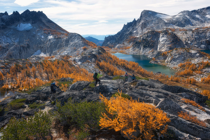 10. Prusik Pass in the Enchantments, featuring gorgeous autumn colors.