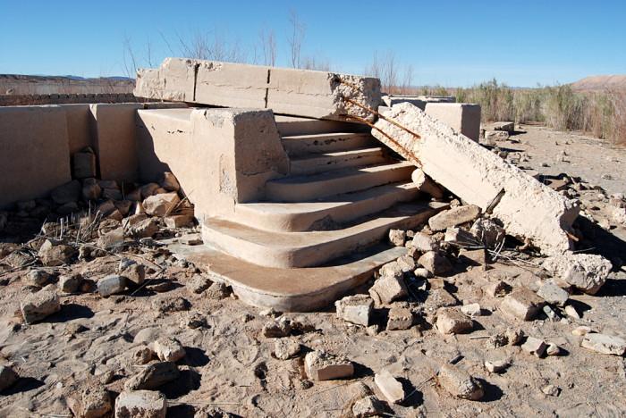 3. The ruins of St. Thomas, Nevada.