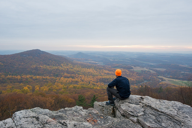 5. The sweeping vista of Pennsylvania's Appalachian Trail never ceases to amaze me. Here, a man surveys the land from Pulpit Rock in Berks County.