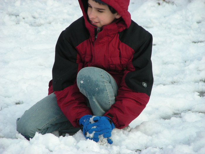 7. Be a kid again and have a snowball fight.