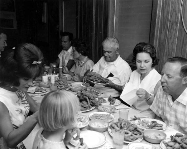 14. Apparently there was a time when everyone actually sat down to eat together.