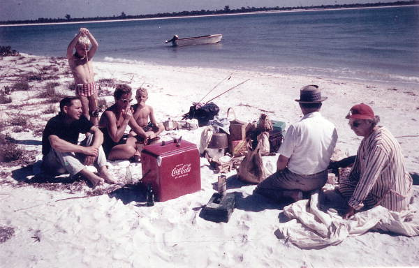 12. Here a family enjoys a picnic on the beach at Cayo Costa Island.