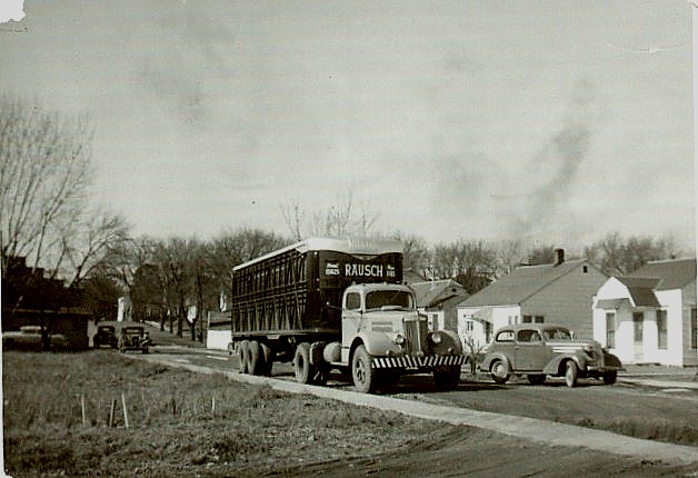 3. This Rausch truck drives around Cherokee in the 1950s.