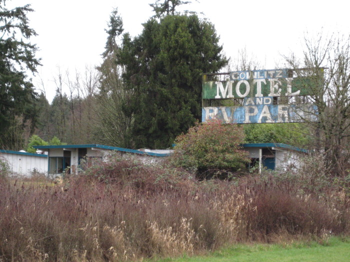 3. The Cowlitz Motel and RV Park has been empty for years.