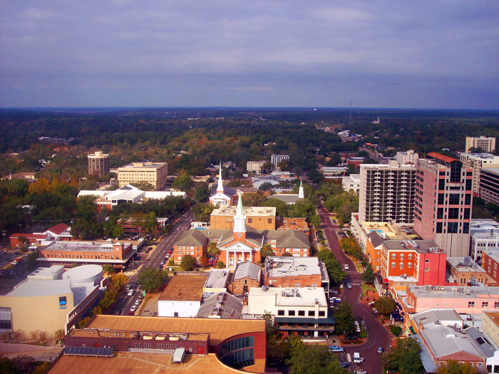1. Even though you won't find many tall buildings there, the view from the capital building in Tallahassee is still beautiful.