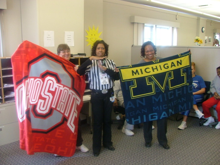10) Treating the Michigan Vs. Ohio State game as if it were a national holiday.