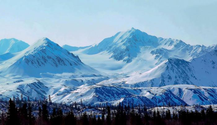 8) The beautiful Hoodoo Mountain Glacier.