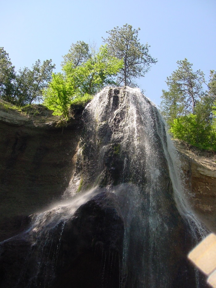 This is the highest waterfall in the state.