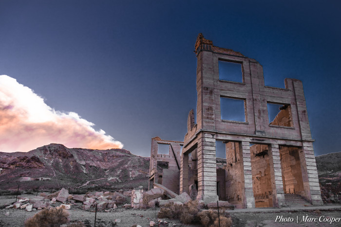 11. This is a great shot of the Cook Bank ruins, located in the ghost town of Rhyolite. What's amazing is Cook Bank may look like this now, but it once looked like...