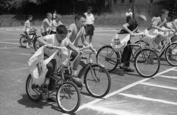 4. Plenty of folks remember their first job as a paper boy. This photo shows the Tallahassee Democrat delivery boy bike race.