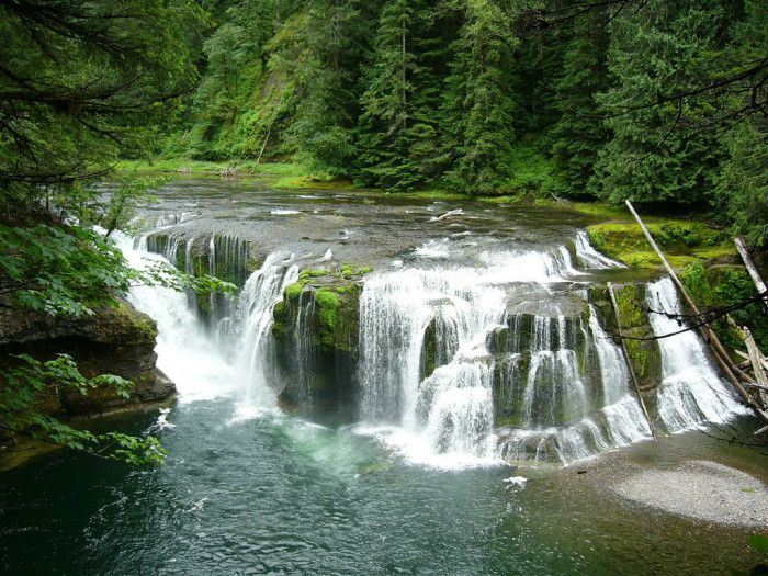 6. The spectacular Lower Lewis Falls in the Gifford Pinchot National Forest.