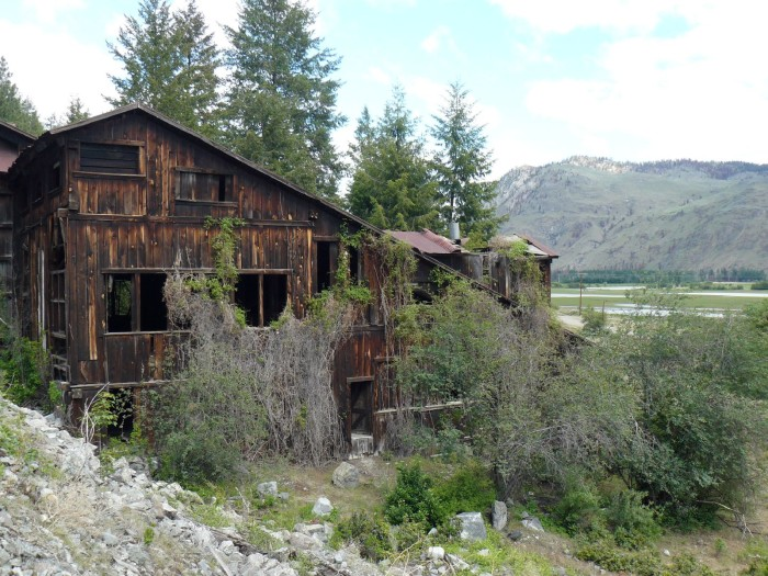 10. In the ghost town of Nighthawk, you can find the Ruby Mine & Mill reclaimed by trees and branches.