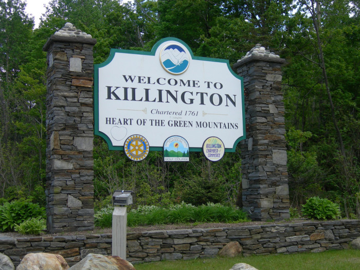 2.  The town of Killington voted to secede from the state of Vermont to New Hampshire in March 2004.