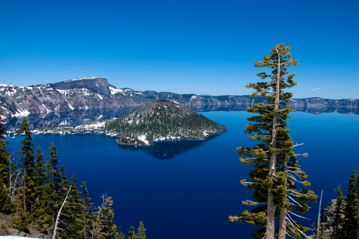 13. Take a road trip to see the stunning blue water of Crater Lake.
