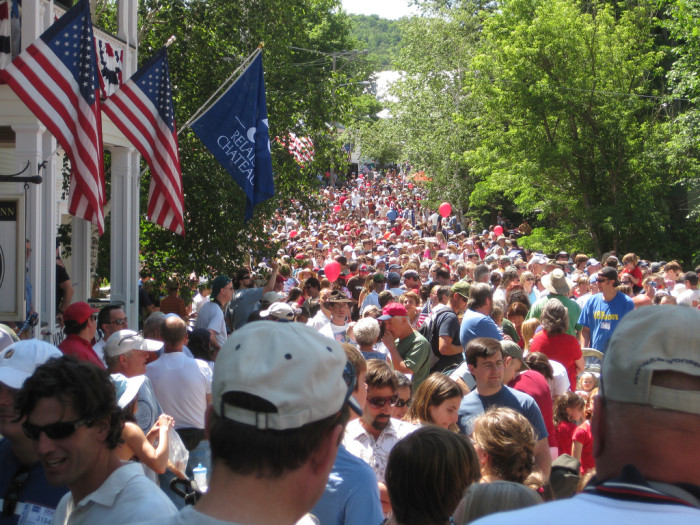 23.  When there is a parade or other community event we all gather together.