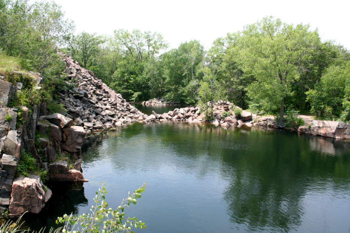 8. Quarry Park and Nature Preserve in Waite Park is another great place to explore the remains of Minnesota's mining industry. With swimming quarries, scuba diving, and rock climbing as popular activities, this is another one of MN's favorite previously industrial sites. The quarries are former mining sites of Saint Cloud Red Granite, which can be seen in some of Minnesota's iconic buildings including The Landmark Center and the James J. Hill House in St. Paul.
