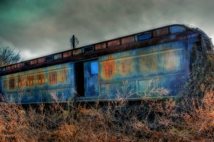 15. This abandoned railcar is located at the old L&N Depot in Andalusia, Alabama.