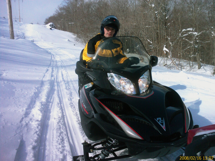 2. We sometimes use snowmobiles or four wheelers to get to work.