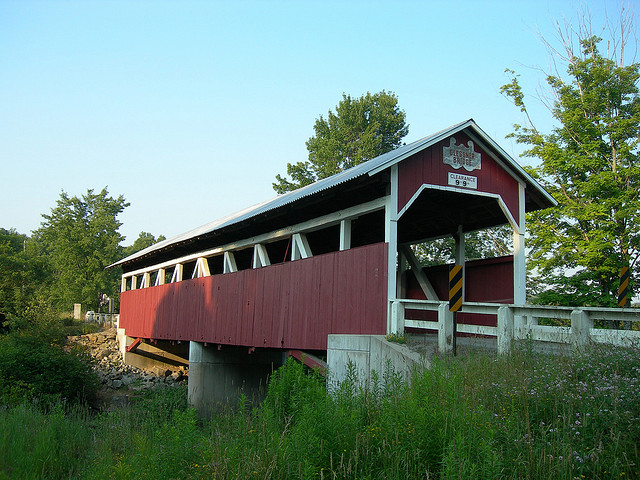 7. Pennsylvania has more covered bridges than any other state. Here is the Glessner Covered Bridge, which was first built in 1880 (then rebuilt in 1998).