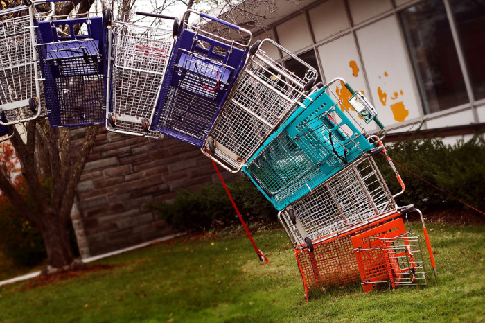 7.  Please Return Shopping Carts After Use - Weird.