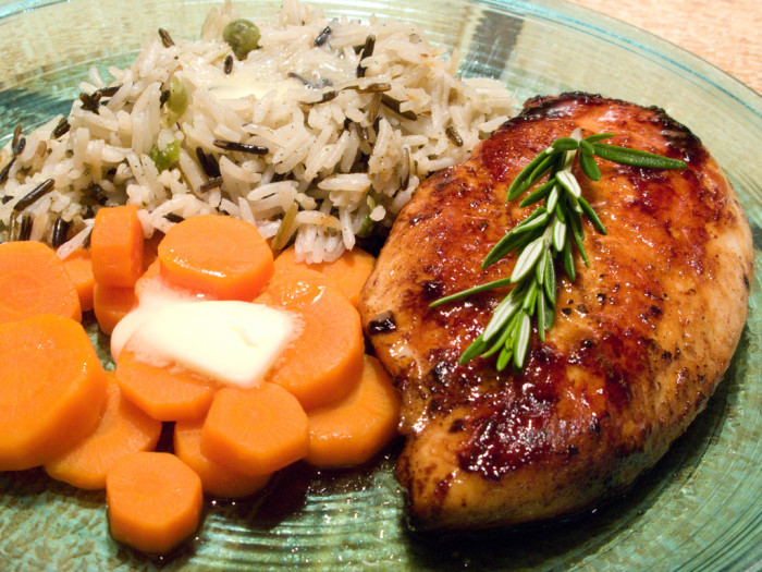 13.  Chicken with Black-Pepper Maple Sauce