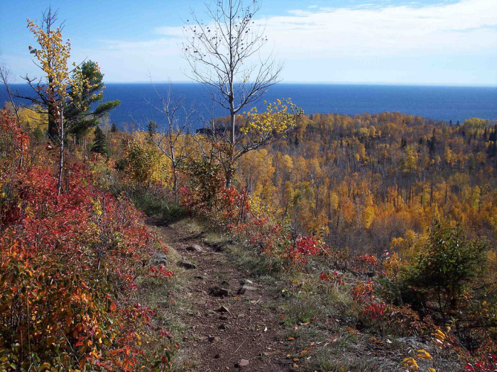 The trail follows the ridgeline overlooking Superior, offering unbelievably beautiful views.