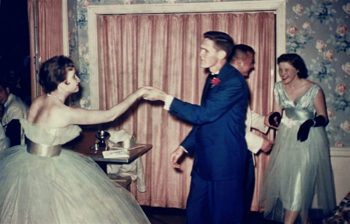 3. Local residents enjoy a dance party in 1953.