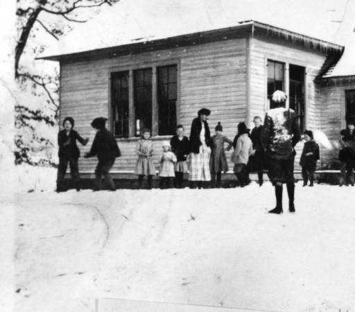 3) It was a snowy winter at the Paulette School