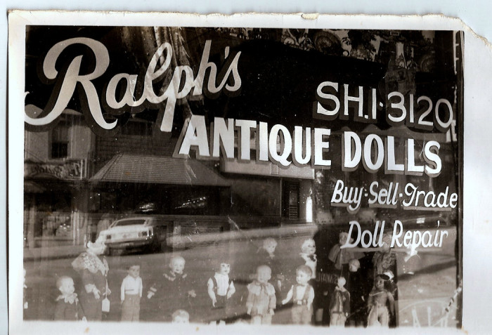 4.	Ralph's Antique Dolls, Parkville, 1968