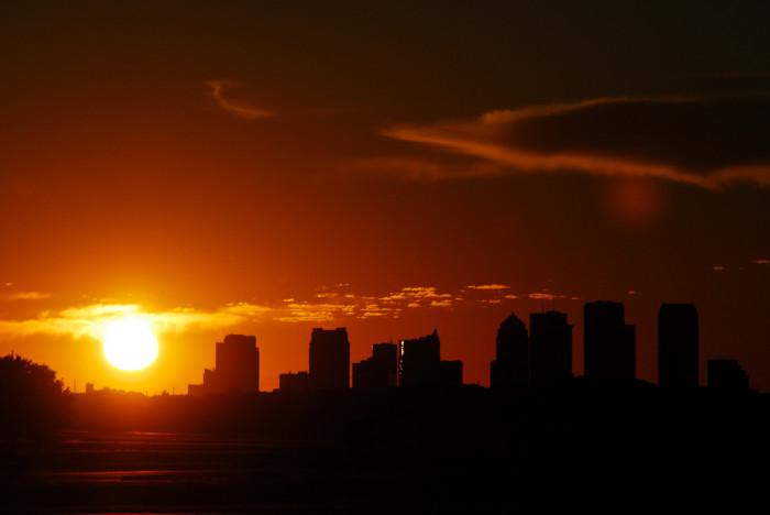 2. Isn't Tampa gorgeous at sunset?