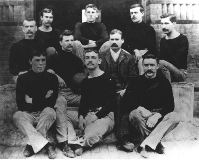 8. In 1891, the first basketball game was played in Springfield. The first game was the result of Dr. James Naismith attempt to create a game that could be played indoors between the football and baseball seasons.That's him in the suit.