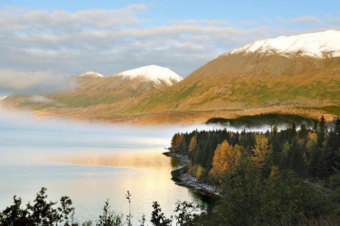 14) Kenai Lake dressed in fall colors.