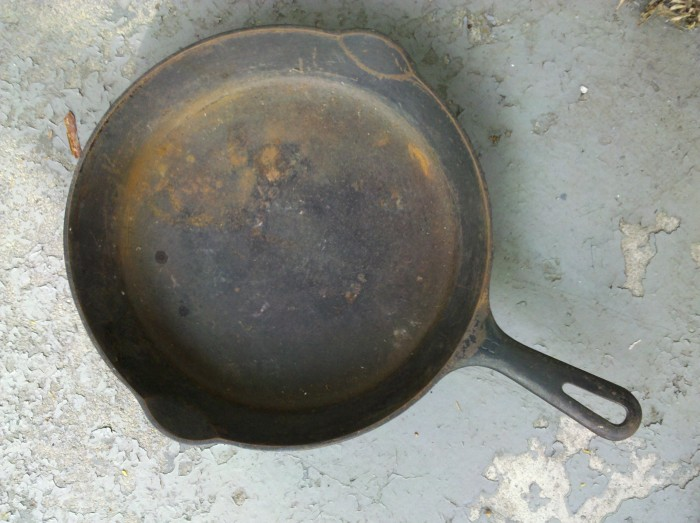 """3. """"My cast iron skillet is rusted."""""""