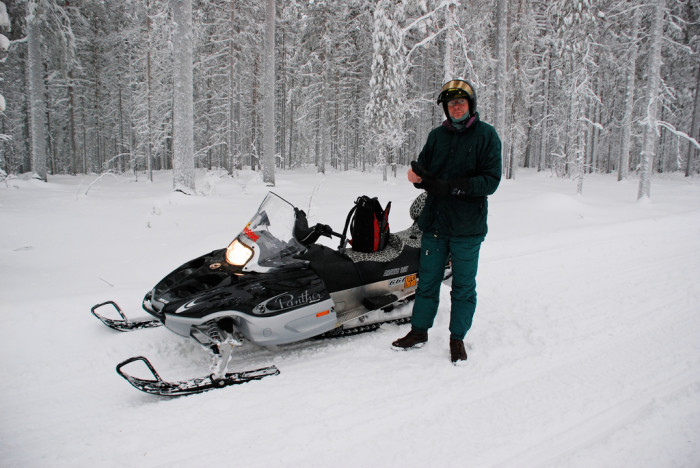 2.  Take a snowmobile ride.