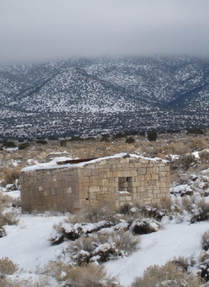 9. A ruin in Bristol Wells, Nevada.