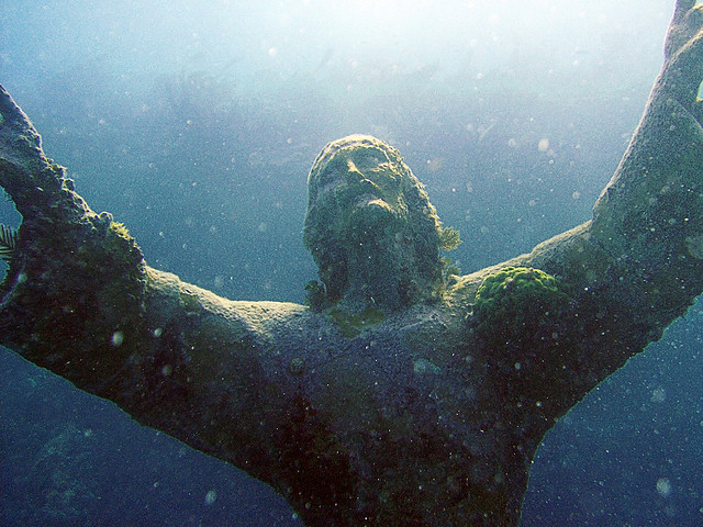 3. The Christ of the Abyss statue in John Pennekamp Coral Reef State Park is quite a sight to behold.