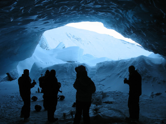 3) Take a sled ride to this glacier cave just outside of Girdwood.