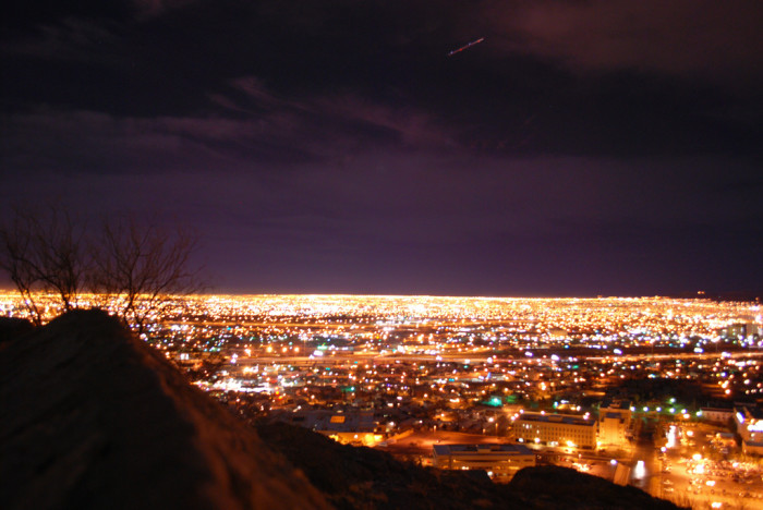 6. Watch the sun go down and lights come up on Scenic Drive in El Paso