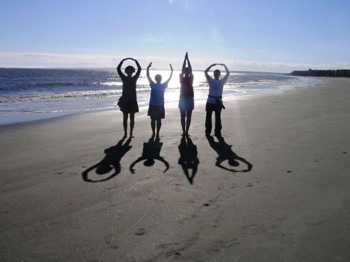 7. Our ability to spell our state's name with our arms