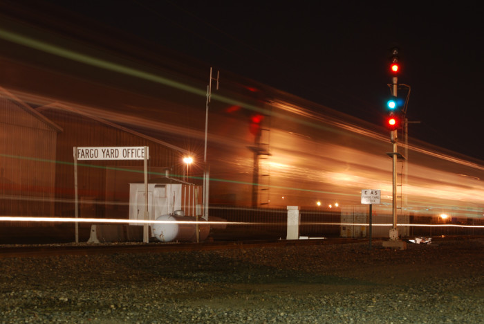 5. The ghost train of the Fargo train yard!