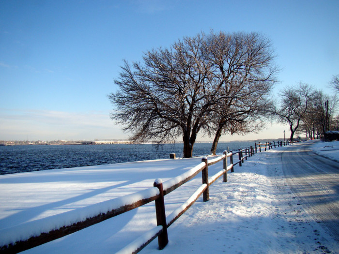 15. A view of the Delaware River from Riverton, New Jersey.